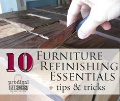 Do you want to start working on furniture, but don't know what you'll need to get started? I've complied a list of my 10 furniture refinishing essentials.