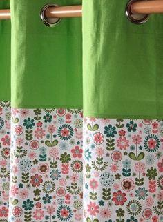 Retro Flower Floral Readymade Curtains - modern - curtains - birmingham - Homescapes Europa Ltd