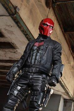 Red Hood Costume, Red Hood Cosplay, Robin Cosplay, Superhero Cosplay, Marvel Cosplay, Dc Comics, Taktischer Helm, Star Wars Commando, Armadura Ninja