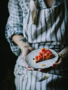 As tomato season approached rapidly, I am excited for all of the different recipes! Today I am sharing this recipe for Tomato Chevre Tarte Tatin! Tomato Tarte Tatin, Savory Tart, Different Recipes, Veggie Recipes, Food Pictures, Food Styling, Food Inspiration, Food Photography, Apple Pie