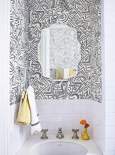 Alan Campbell Lascaux wallpaper | Interior design by Alexandra Loew