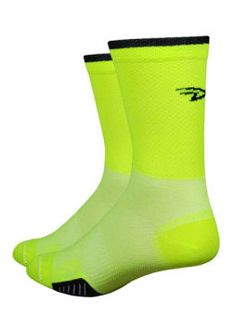 DeFeet SAKO7 Cycling Socks Yellow Roses Size L