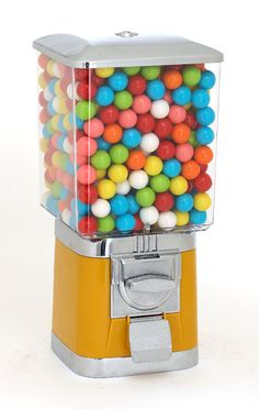 Supreme Gumball Machine. Has a large globe to hold lots of gumballs, toys, bouncing balls or candy!