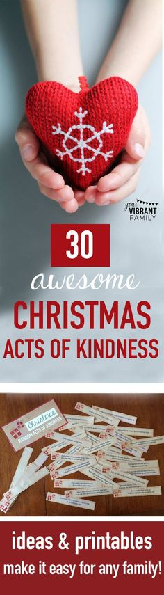 EASY CHRISTMAS ACTS OF KINDNESS ACTIVITIES: Youll love these ideas (and printables!) that make Christmas acts of kindness easy and do-able for even busy families! Love this way to live out our Christian faith, especially during Christmas! Simple Christmas, All Things Christmas, Christmas Holidays, Xmas, Funny Christmas, Christmas Recipes, Holiday Crafts, Holiday Fun, Holiday Ideas