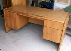 Contemporary oak desk and stand - $175 (Antelope/Citrus Heights)