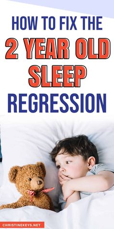 How to fix the 2 year old sleep regression. Find out the best tips for dealing with toddler sleep issues which typically occur around age two. Find parenting tips to help you work through it and get your toddler sleeping well again.