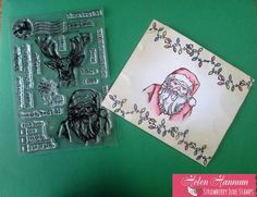 """This card uses the stamp sets, """"Don't Forget Christmas"""" and """"Note It: Letter to Santa"""" from Strawberry Jude Stamps."""