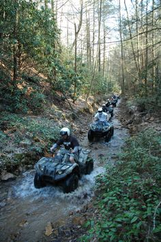 I miss my 4 wheeler, time to get another one, There is nothing like riding through trails and creeks then coming home covered in mud with a smile on my face ! Atv Riding, Trail Riding, Outdoor Life, Outdoor Fun, Quad, Mountain Vacations, Tennessee Vacation, Buggy, Atvs