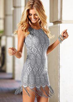 Fringe hem dress in the VENUS Line of Dresses for Women