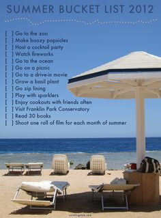 Summer Bucket List 2012 // Curating Style