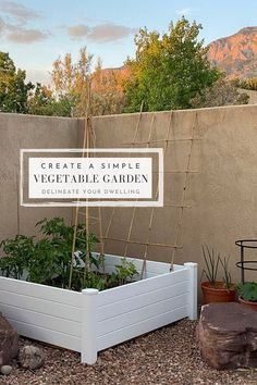 Learn how to create a simple Raised Vegetable Garden to grow delicious veggies, greens and herbs in your own backyard this summer season.  No need for extra frills, this simple method will provide big healthy produce to enjoy for months! Delineate Your Dwelling