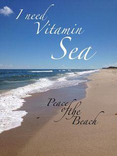 "a little vitamin ""sea"" never hurt anyone. / Peace of the Beach + Beach Bum, Summer Beach, Summer Fun, I Need Vitamin Sea, I Love The Beach, Beach Quotes, Beach Signs, Beach Pictures, My Happy Place"