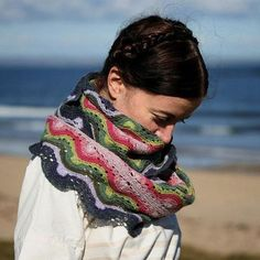 Betty Mouat Cowl by Kate Davies knitted with Coop Knits Sock Yarn