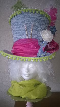 "Mad Hatter Hat 'Flower Power""made by Lady Mallemour Foam Design"