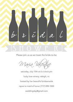 Wine Tasting Bridal Shower Invite by ModernMamaDesigns on Etsy