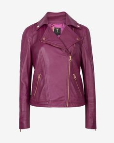 6e809c6b0c00b6 Leather biker jacket - Pale Purple