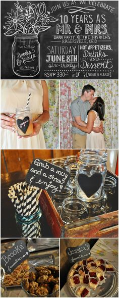 DIY 10 Year Wedding Anniversary Party <3 completely created around things she already owns