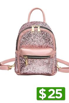 Backpacks 100% True Fashion Women Backpack Female Glitter Laser Pu Leather Backpack Women Girls Casual School Shoulder Bag Women's Bags