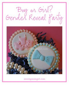 Gender Reveal Party Cookies
