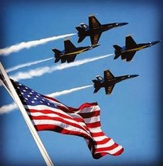 Blue angels over flag. We went and saw the blue angels last fall. I Love America, God Bless America, America America, American Pride, American Flag, American History, American Spirit, American Soldiers, American Country