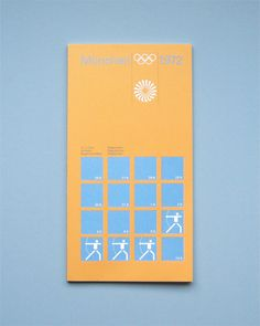 Munich 1972 Olympics Regulations Archery - Otl Aicher & Rolf Müller