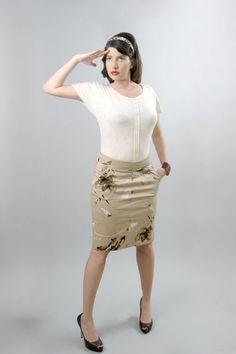 Pencil woven Skirt by Tamarika79 on Etsy, $50.00  #fashion