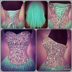 ful Rhinestones Prom Dresses Stunning Heavily Beaded Sweetheart Neck Sleeveless Ball Gown Lace Up Back Floor Length Pageant Gowns, $123.5 | DHgate.com
