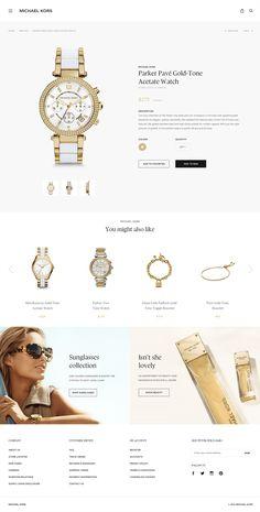 Michael Kors redesign subpage by Dejan Markovic Website Design Layout, Web Layout, Layout Design, Design Art, Modern Bedroom Decor, Modern Decor, Ui Web, Web Inspiration, Web Design Company