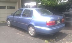 Blue 1994 VW Jetta!  hahahaha!  My first car!  :)