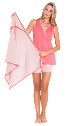 Olian Maternity Pajamas w/ Matching Baby Blanket