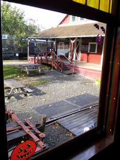 View from inside the train, Halloween Train, Railway Museum, Train Rides, Seasons, Cars, Fun, Seasons Of The Year, Autos, Car