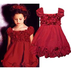 Toddler Little Flower Girl Beauty Pageant Party Holiday Red Dresses SKU-10501015