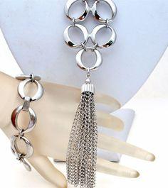Crown Trifari Tassel Necklace & Bracelet Demi Set Silver Tone Oval Links Vintage | Jewelry & Watches, Vintage & Antique Jewelry, Costume | eBay!