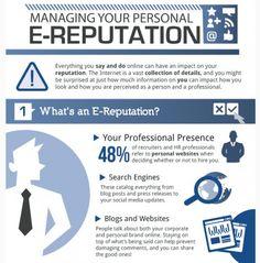 Infografik Online Reputation Management - Wahren Sie Ihren persönlichen Ruf im Social Web