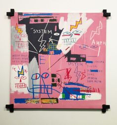 Emphasis through contrast. The pops of color and contrasting colors help draw out attention.   Jean-Michel Basquiat