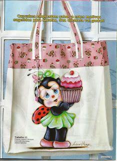 Talita Monteiro: Pintura em Tecido Joaninha com Cupcake