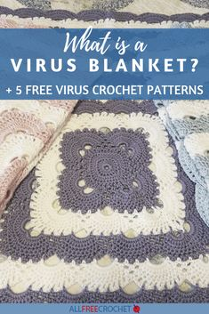 Crochet Blanket Border, Crochet Stitches For Blankets, Crochet Quilt, Crochet Afghans, All Free Crochet, Knit Or Crochet, Cute Crochet, Crochet Blogs, Crochet Ideas