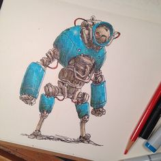 MR. JAKE PARKER • Bluebot. Inktober books are getting packed up and...