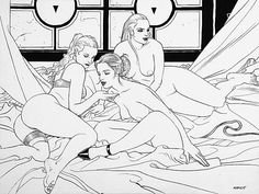 View Grace, grace and grace by Jean Giraud on artnet. Browse upcoming and past auction lots by Jean Giraud. Jean Giraud Moebius, Moebius Art, Klimt, Collage Drawing, Bd Comics, Black White Art, Tumblr, Illustrations, Artist Gallery