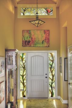 Stained Glass Sidelights and Transom - Beyond gorgeous!