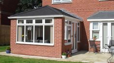 Pergola Ideas For Shade Edwardian Conservatory, Tiled Conservatory Roof, Small Conservatory, Conservatory Dining Room, Conservatory Design, Conservatory Interiors, Bungalow Extensions, Garden Room Extensions, House Extensions