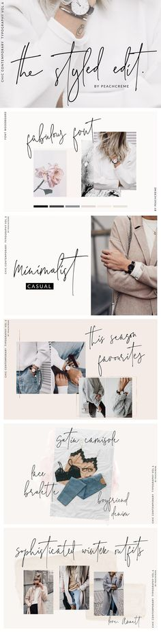 Handwritten Fonts | Stylish , modern and elegant script font | The Styled Edit- Chic Ligature Font - Script | ad