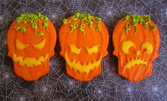 I think these Halloween cookies had to be the funnest yet. Who doesn't love Halloween? Its still early an have time to make some more Hallow...