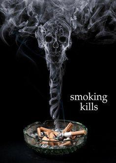Retorica: Stop Smoking Before It Kills You dit is ook een voorbeeld om rokers te waarschuwen en mensen te laten beseffen dat het dodelijk is doormiddel van beeld