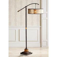Birch Blonde Giclee Glow Bronze Balance Arm Floor Lamp | Floor Lamp And  Birch