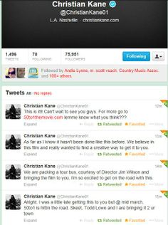FIRST TWEETS of FEBRUARY ...February 1, 2014  from @ChristianKane01  Christian Kane.. he was talkative that day.. love it!!    FEBRUARY