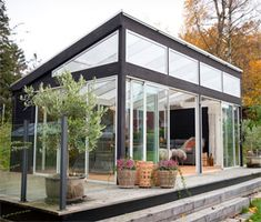 Glass Roof Extension, Contemporary Garden Rooms, Timber Roof, Bait And Tackle, Simple Colors, Planter Boxes, Present Day, Wall Spaces, Mosaic Glass