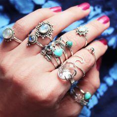 ⋙ ʜᴀʀᴠᴇsᴛ ᴍᴏᴏɴ ᴄᴏʟʟᴇᴄᴛɪᴏɴ ɪɴ sᴛᴏʀᴇ ɴᴏᴡ! ⋘ // jewellery // jewelry // jewels // lookbook // boho // bohemian // summer // beach lover // hippie // sea gypsy // sterling silver // blue skies // blue seas // ocean // flower child // crystals // rainbow moonstone // black onyx // moon child // hawaii // california // tousled hair // festival style