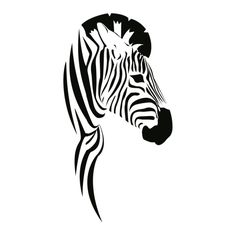 wall tattoo zebra #animal #africa #head #silhouette #digistamp Zebra Drawing, Blind Drawing, Animal Stencil, Stencil Art, History Of Drawing, Zebra Tattoos, Op Art Lessons, Wall Tattoo, Time Tattoos