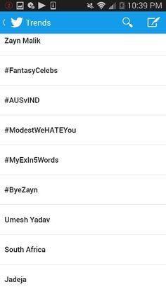 #ModestWeHateYou and #ByeZayn and Zayn Malik
